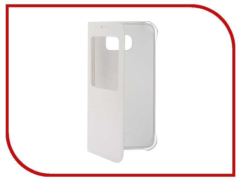 Аксессуар Чехол Samsung SM-G920 Galaxy S6 S-View White EF-CG920PWEGRU<br>