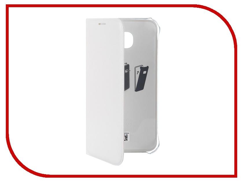 Аксессуар Чехол Samsung SM-G920 Galaxy S6 Flip Wallet White EF-WG920PWEGRU аксессуар чехол флип samsung galaxy s6 sm g920 brera slim blue 47543