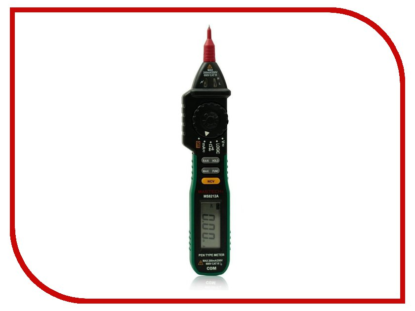 Мультиметр Mastech MS8212A mastech ms8212a multi functional pen style digital multimeter black green