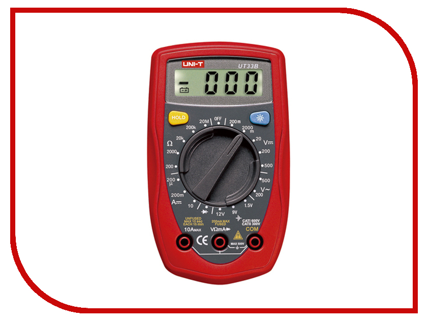 Мультиметр UNI-T UT33B uni t ut139a true rms digital multimeter auto manual range ac dc amp volts ohm tester with data hold ncv and battery test