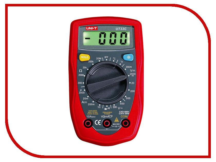 Мультиметр UNI-T UT33C uni t ut139a true rms digital multimeter auto manual range ac dc amp volts ohm tester with data hold ncv and battery test