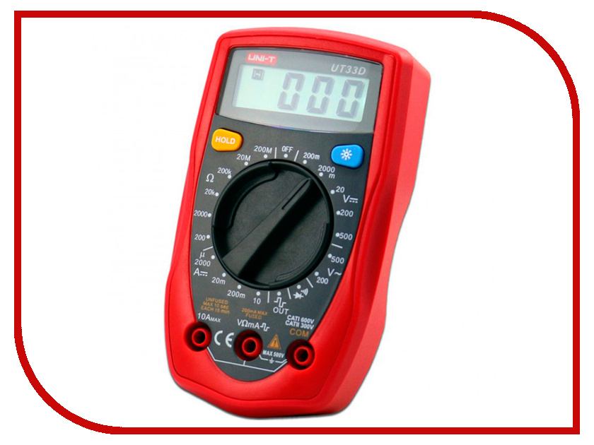 Мультиметр UNI-T UT33D uni t ut220 handheld 2 lcd digital clamp multimeter red grey 1 x 6lf22 max 2000