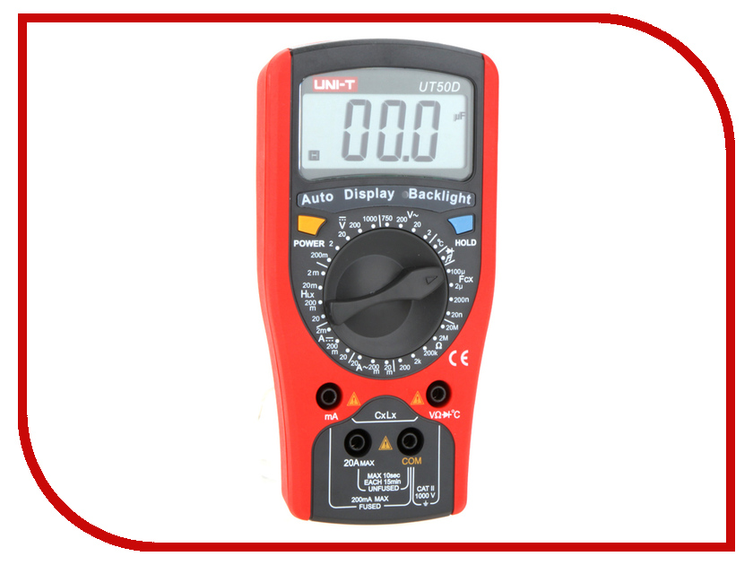 Мультиметр UNI-T UT50D uni t ut200a 1 4 lcd digital clamp multimeter 1 x 6f22 9v