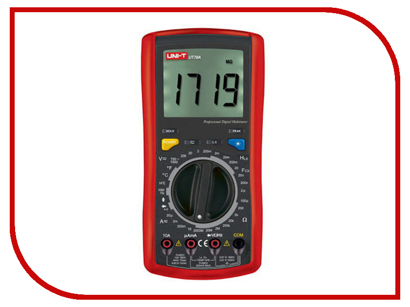Мультиметр UNI-T UT70A uni t ut601 modern professional capacitance meters ohmmeters capacitor resistor w diode