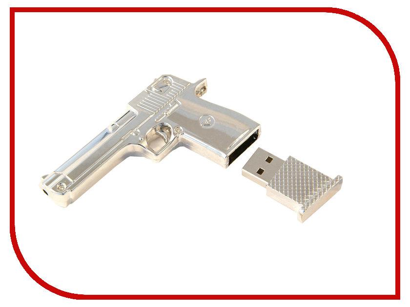 USB Flash Drive 4Gb - Союзмультфлэш Пустынный Орел пистолет Silver FM4WR2.35.SL<br>
