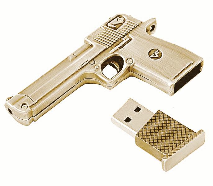 USB Flash Drive 8Gb - Союзмультфлэш Пустынный Орел пистолет Bronze FM8WR2.35.BR