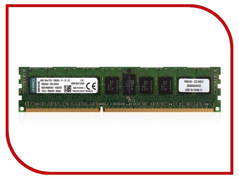 Модуль памяти Kingston PC3-12800 DIMM DDR3 1600MHz ECC CL11 - 8Gb KVR16R11S4/8<br>