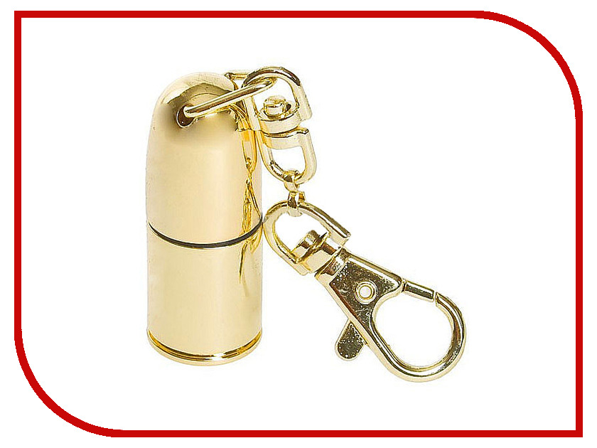 USB Flash Drive 4Gb - Союзмультфлэш Пуля Gold FM4WR2.38.GLD/FM4WR2.28