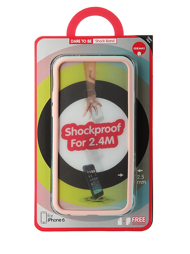 Аксессуар Чехол-бампер Ozaki O!Coat ShockBand для iPhone 6 Pink OC567PK