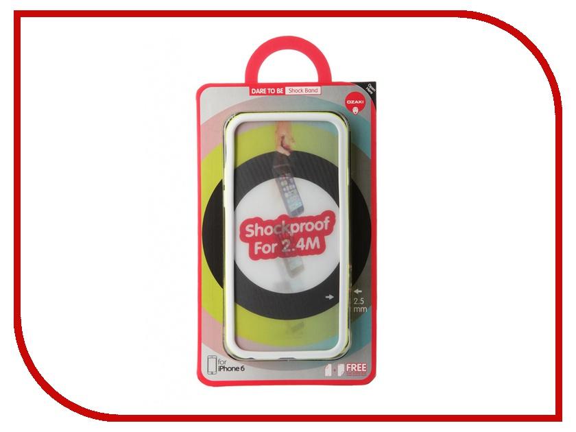 Аксессуар Чехол-бампер Ozaki O!Coat ShockBand для iPhone 6 Green OC567WS<br>