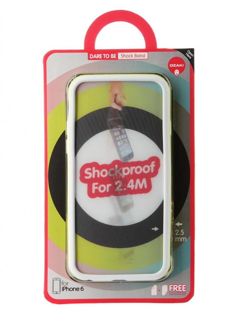 Аксессуар Чехол-бампер Ozaki O!Coat ShockBand для iPhone 6 Green OC567WS