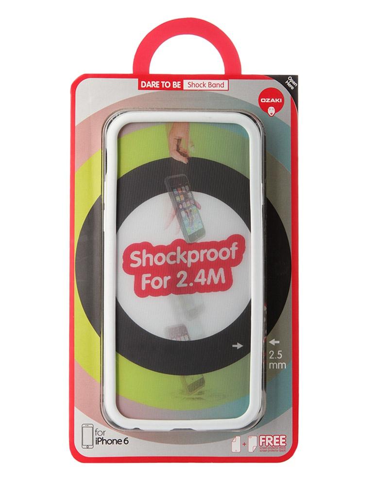 Аксессуар Чехол-бампер Ozaki O!Coat ShockBand для iPhone 6 White OC567WH