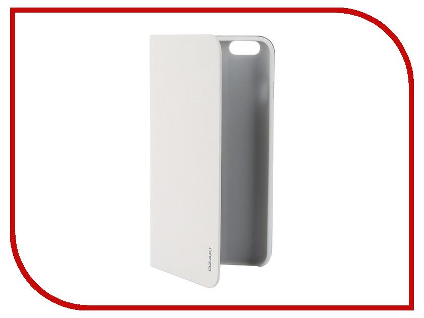 Аксессуар Чехол Ozaki O!Coat 0.4+ Folio для iPhone 6 Plus White OC581WH<br>