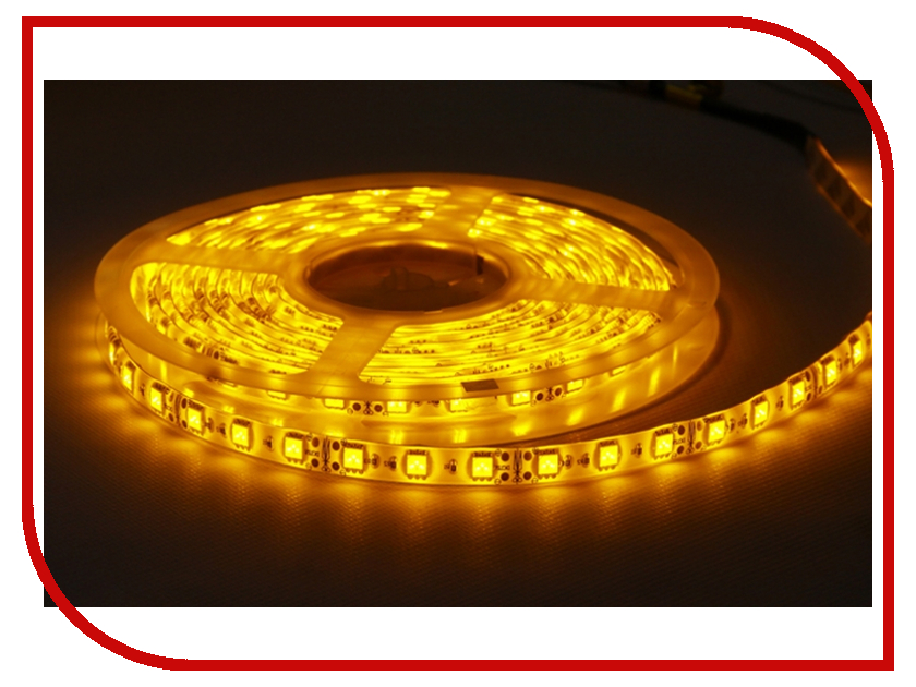 Светодиодная лента Camelion SLW-5050-30-C07 5m IP65 Yellow<br>