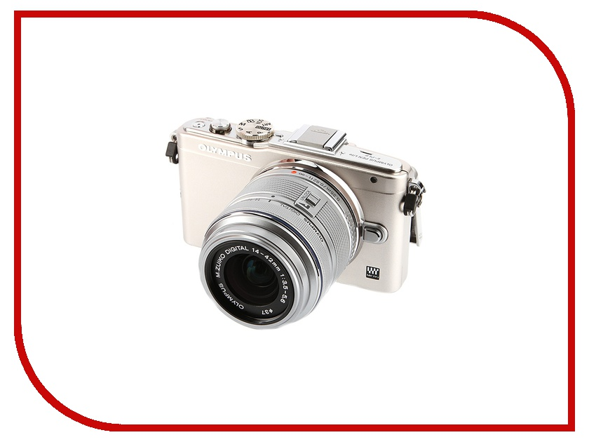 Фотоаппарат Olympus PEN E-PL6 Double Kit 14-42 mm II R & 40-150 mm R Silver-Silver-Silver