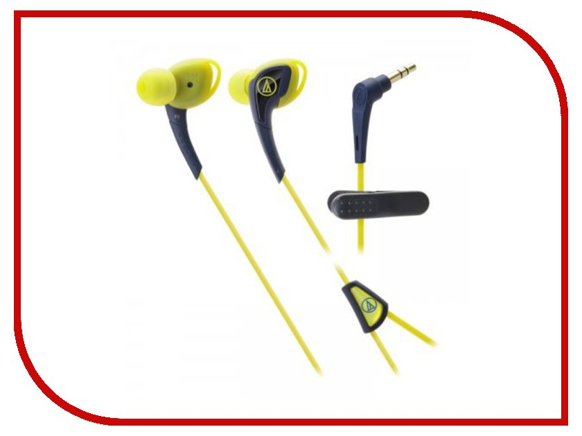 Наушники Audio-Technica ATH-SPORT2 NY Navy-Yellow наушники audio technica ath m50x black