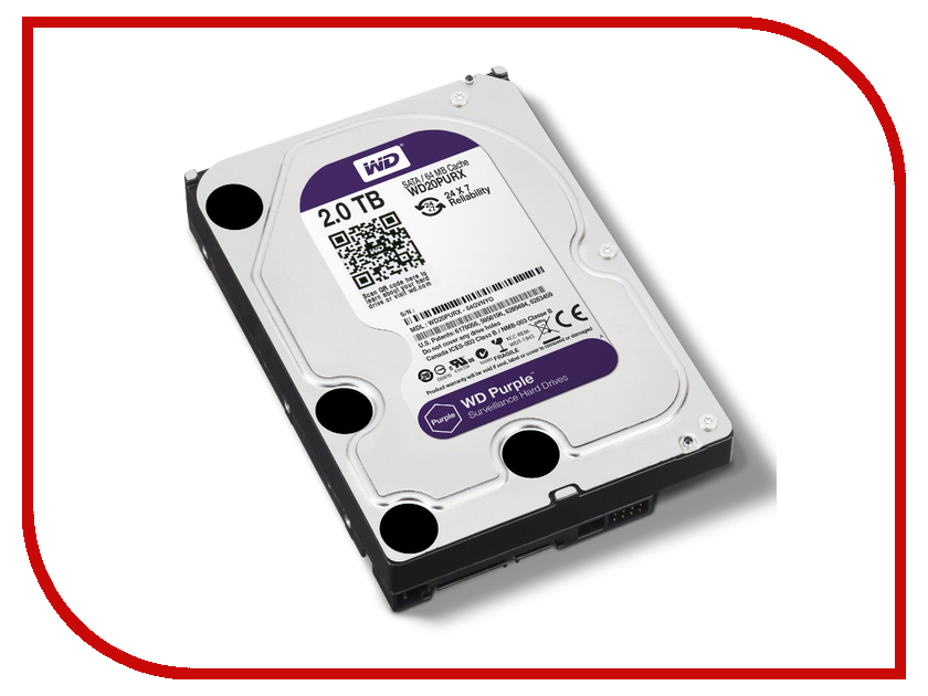 Жесткий диск 2Tb - Western Digital Purple WD20PURX