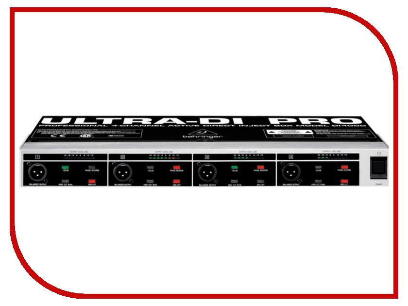 Аксессуар Behringer DI 4000 ULTRA-DI PRO - 4-канальный активный DI-box<br>