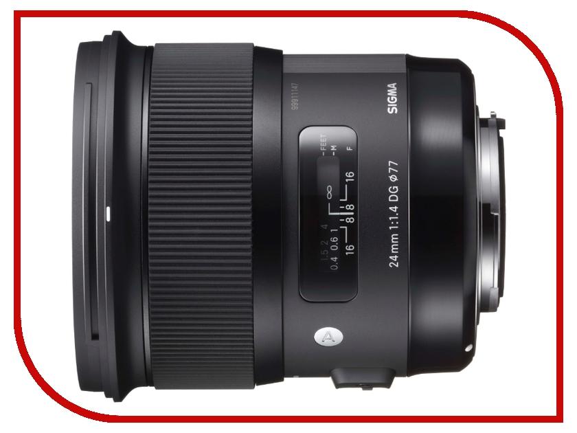 Объектив Sigma Nikon AF 24 mm F/1.4 DG HSM ART объектив sigma nikon af 24 105 mm f 4 0 dg os hsm art