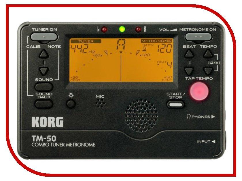 KORG TM-50BK компас silva compass expedition 37448