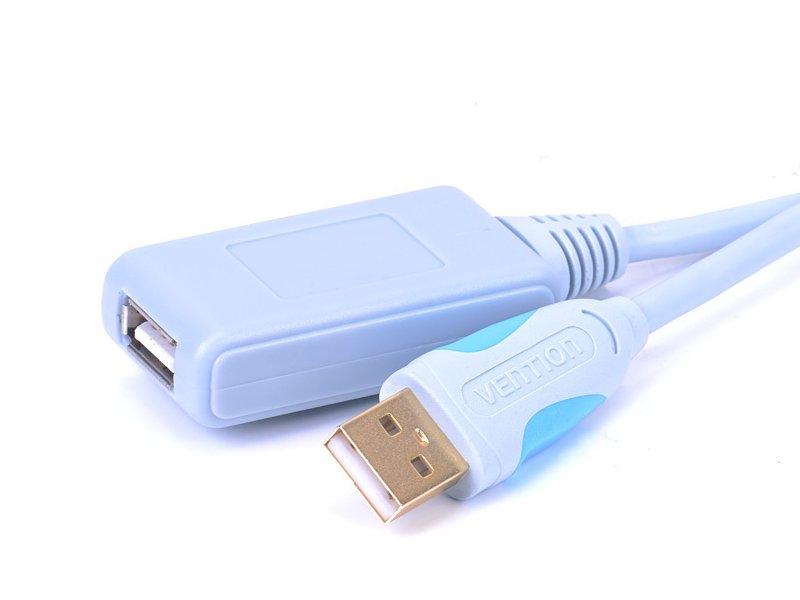 Фото - Аксессуар Vention USB 2.0 AM - AF 5m VAS-C01-S500 хаб vention usb 2 0 4 порта 1m black vas j43 b100
