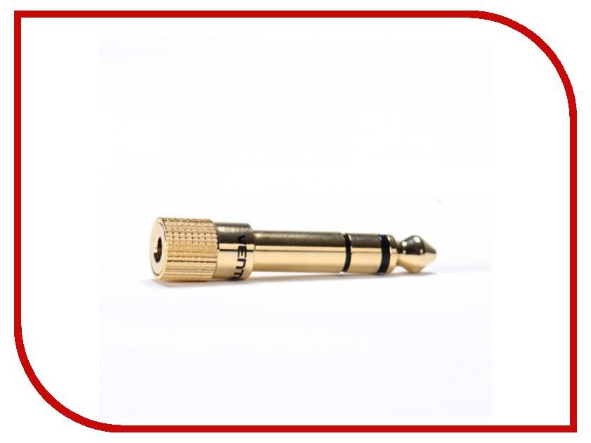 Аксессуар Vention 3.5 Jack F - 6.5mm Jack M Gold VAB-S01<br>