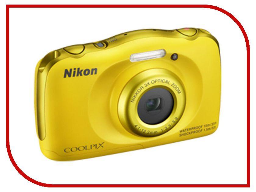 Фотоаппарат Nikon S33 Coolpix Yellow<br>