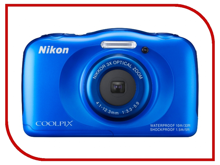 Фотоаппарат Nikon S33 Coolpix Blue<br>