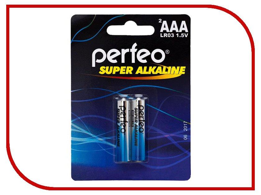 Батарейка AAA - Perfeo LR03/2BL Super Alkaline (2 штуки)