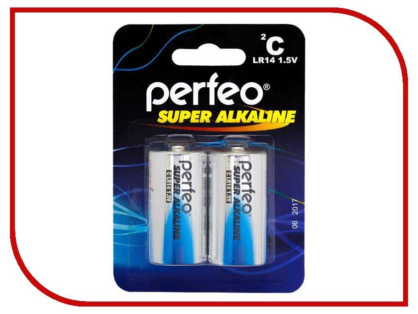 ��������� Perfeo LR14/2BL Super Alkaline (2 �����)