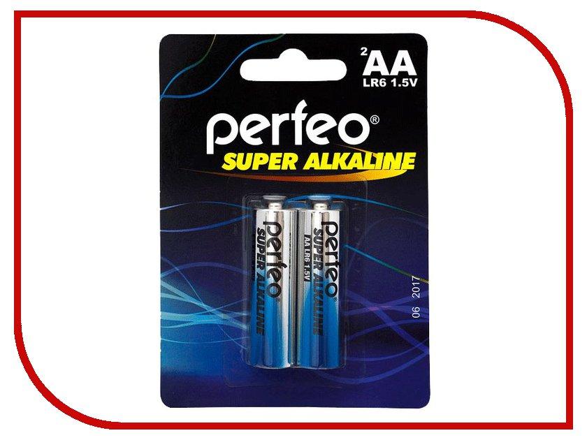Батарейка AA - Perfeo LR6/2BL Super Alkaline (2 штуки)
