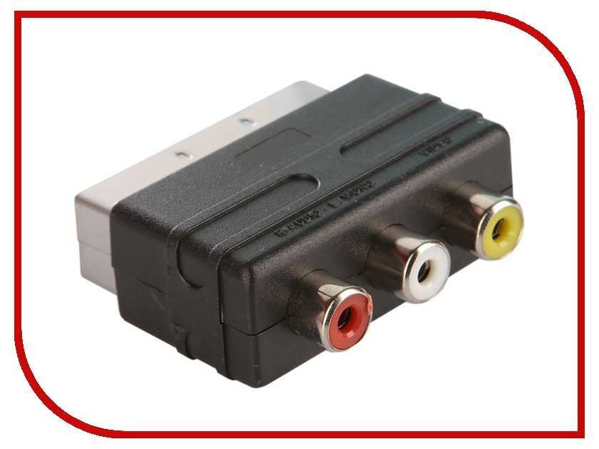 Аксессуар Perfeo SCART (21 PIN) M/IN-3xRCA/F A7007<br>