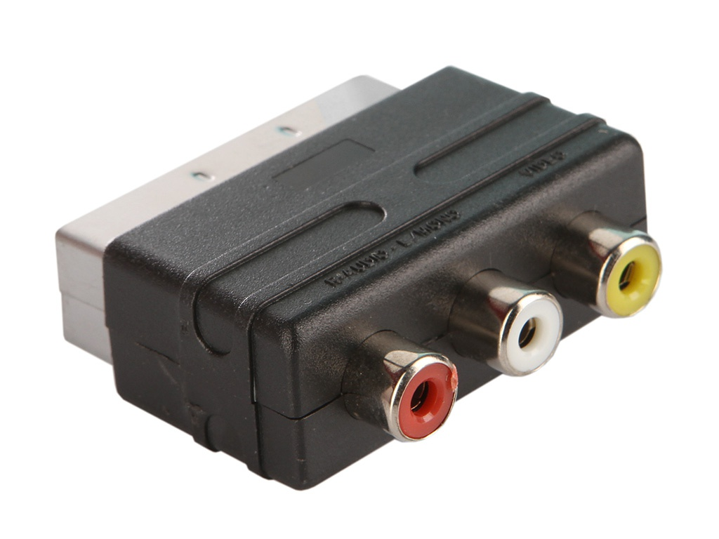 Аксессуар Perfeo SCART (21 PIN) M/IN-3xRCA/F A7007