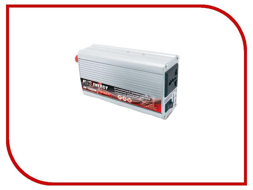Автоинвертор AVS IN-1000W 43113 с 12В на 220В автоинвертор avs in 2210 220в на 12в a80980s