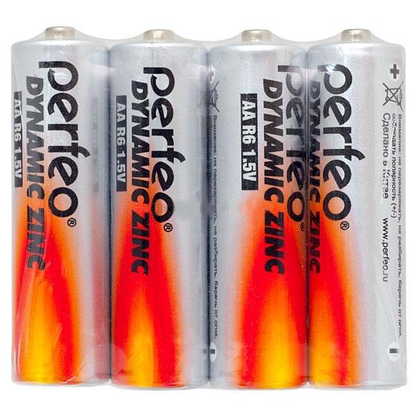 Батарейка AA - Perfeo R6/4SH Dynamic Zinc (4 штуки)<br>