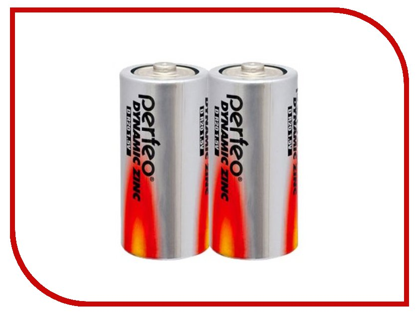 Батарейка Perfeo R20/2SH Dynamic Zinc (2 штуки)<br>