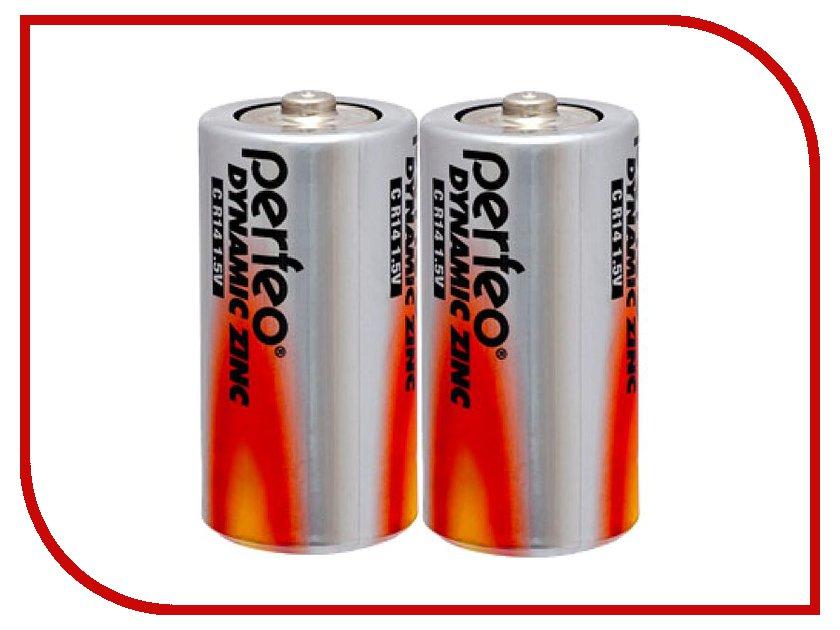 Батарейка Perfeo R14/2SH Dynamic Zinc (2 штуки) батарейка c camelion green r14 r14p bp2g 2 штуки