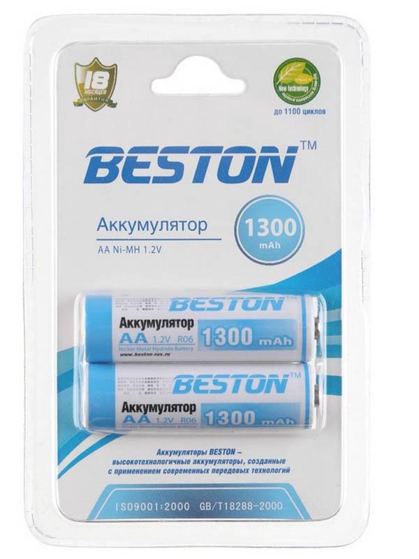 цена на Аккумулятор AA - Beston 1300 mAh NiMH (2 штуки)