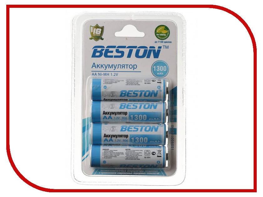 Аккумулятор AA - BESTON 1300 mAh NiMH (4 штуки)<br>