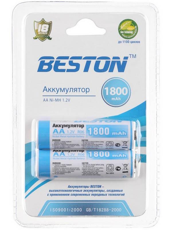 Аккумулятор AA - BESTON 1800 mAh NiMH (2 штуки)