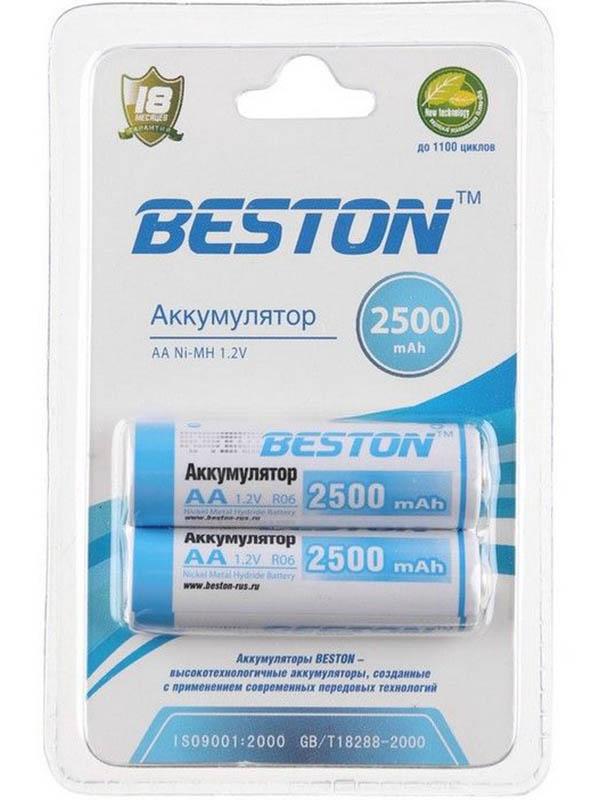 Аккумулятор AA - BESTON 2500 mAh NiMH (2 штуки)