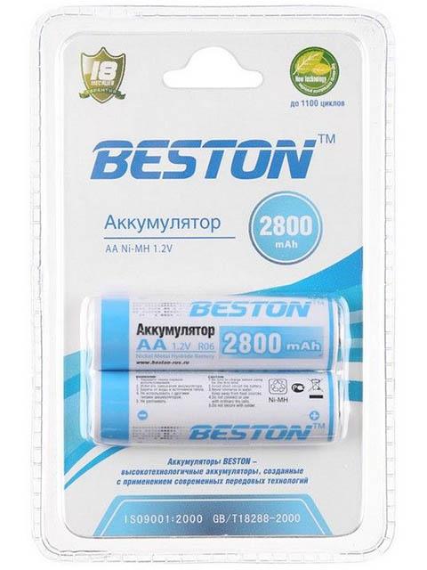Аккумулятор AA - BESTON 2800 mAh NiMH (2 штуки)