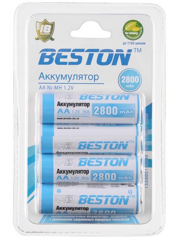 Аккумулятор AA - BESTON 2800 mAh NiMH (4 штуки)