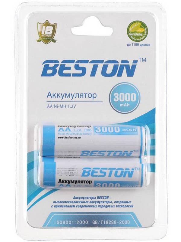 Аккумулятор AA - BESTON 3000 mAh NiMH (2 штуки)