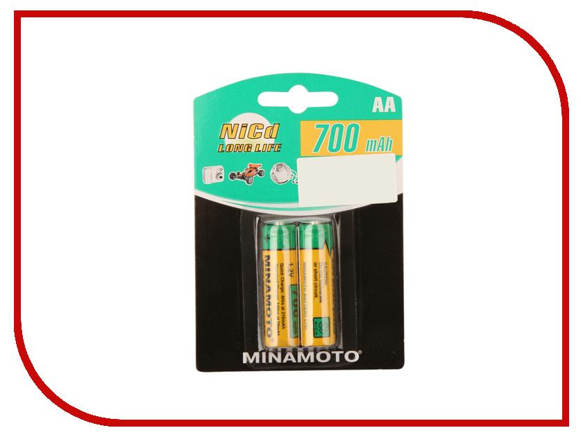 Аккумулятор AA - MINAMOTO 700 mAh NiCd (2 штуки) батарейка d minamoto 1 5v r20 sr2 2 штуки