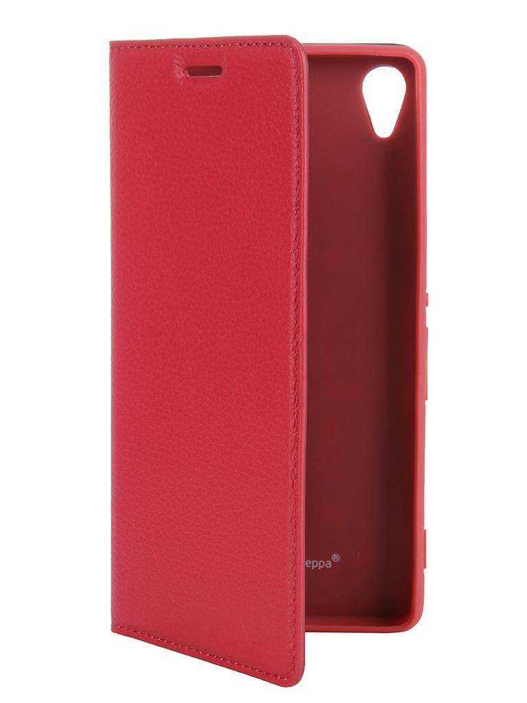 Аксессуар Чехол Sony Xperia Z3 Deppa Wallet Cover магнит + защитная пленка Fuchsia 84080<br>