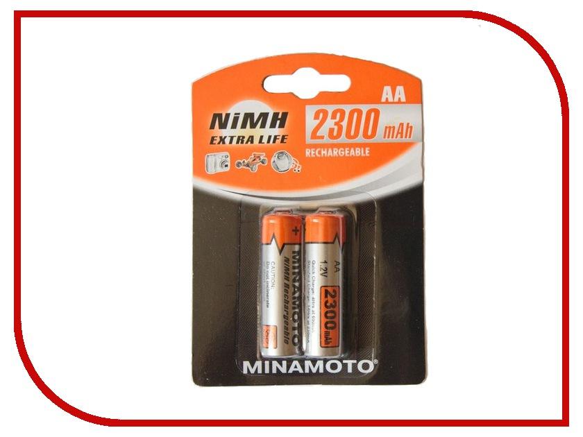 Аккумулятор AA - MINAMOTO 2300 mAh NiMH (2 штуки)<br>