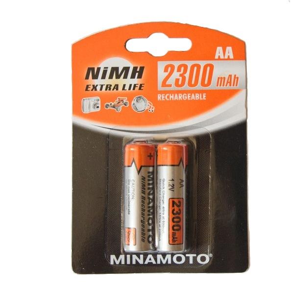 Аккумулятор AA - MINAMOTO 2300 mAh NiMH (2 штуки)