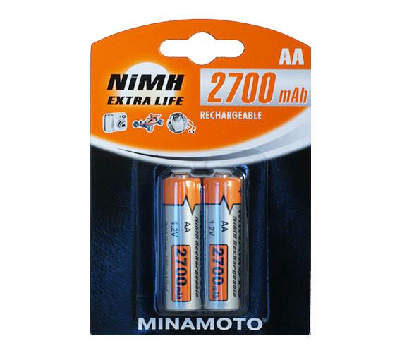 Аккумулятор AA - MINAMOTO 2700 mAh NiMH (2 штуки)