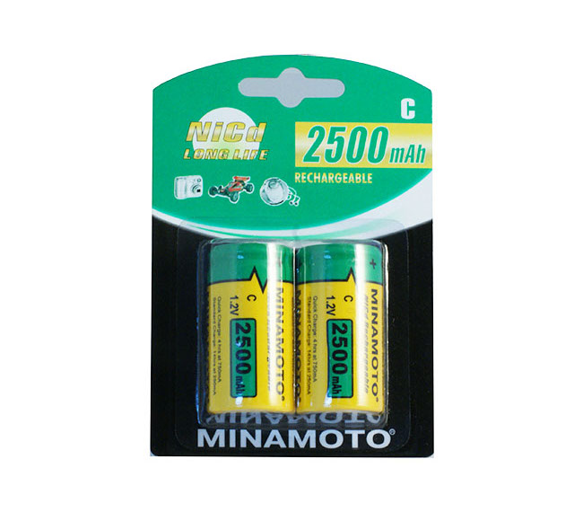 Аккумулятор C - MINAMOTO R14 2500 mAh NiCd (2 штуки)